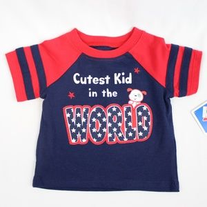 Other - Baby Red White Blue Gender Neutral T Shirt 3-6 Mo